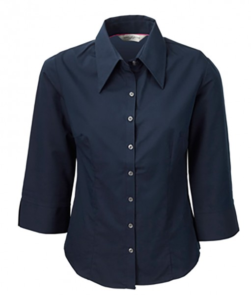 Damen Bluse navy, XS, 3/4 Arm Russell 954F
