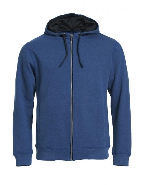 021044 Classic Hoody Full Zip 565 blau meliert