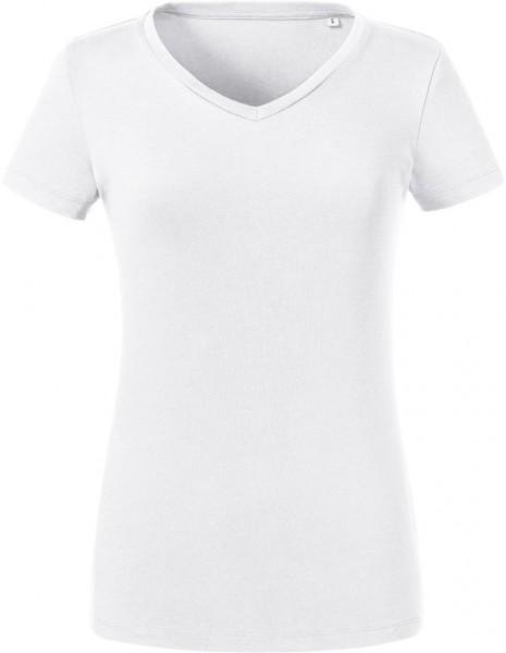 Ladies' Organic V-Neck T-Shirt Russell 103F