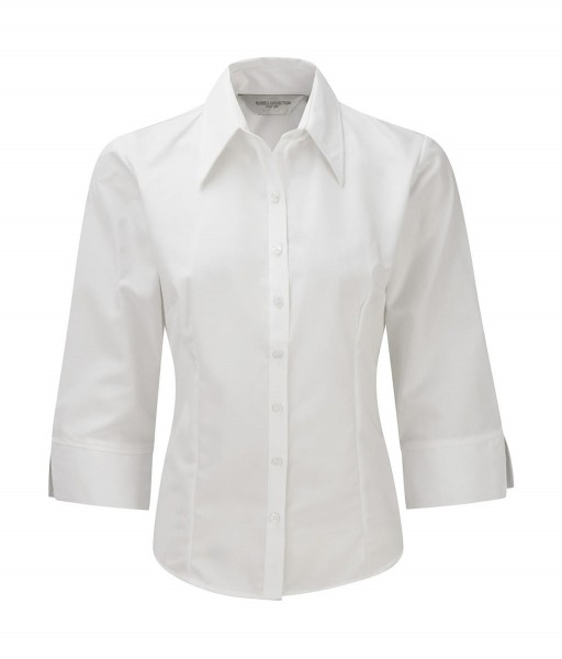 Damen Bluse weiss, M, 3/4 Arm Russell 954F
