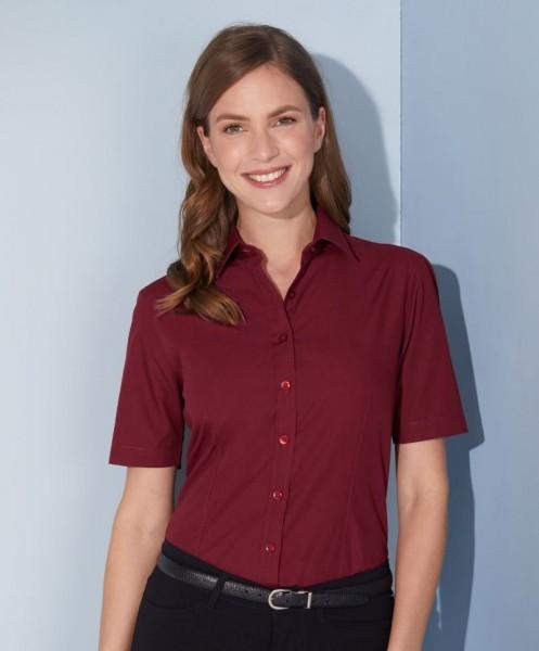 Ladies' Shirt Shortsleeve Poplin James&Nicholson JN679