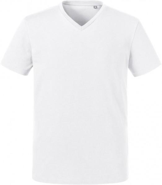 Men's Organic V-Neck T-Shirt Russell 103M
